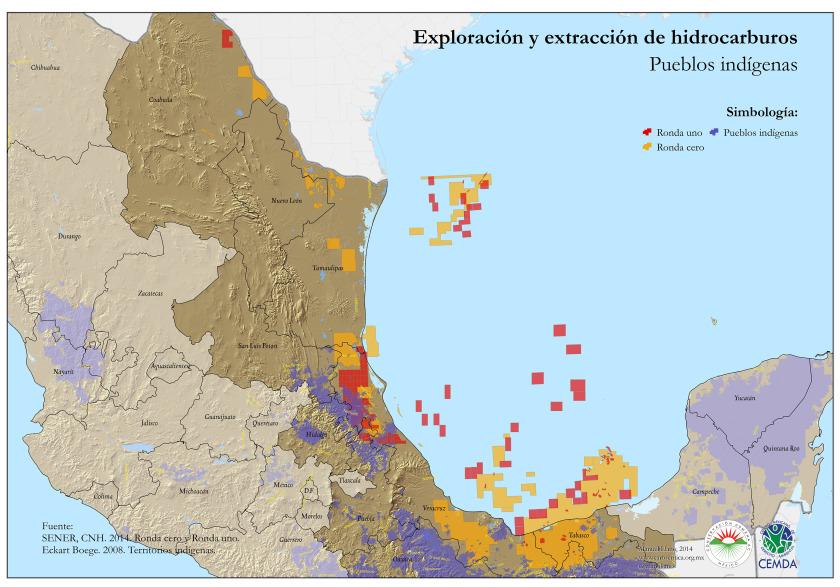 Hidrocarburos y pueblos indígenas (Clic para ver más grande)