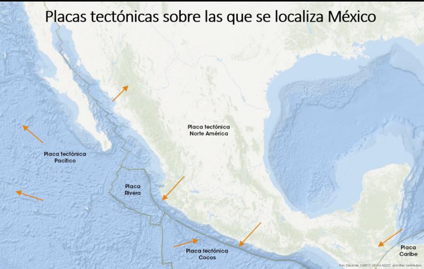 Placas tectónicas México